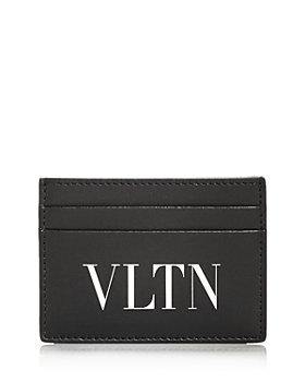 Valentino Garavani - Logo Print Small Leather Card Case
