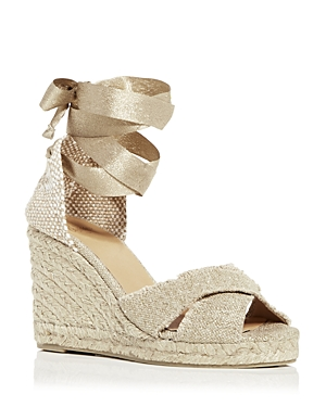 Women's Bluma Ankle Tie Wedge Espadrille Sandals