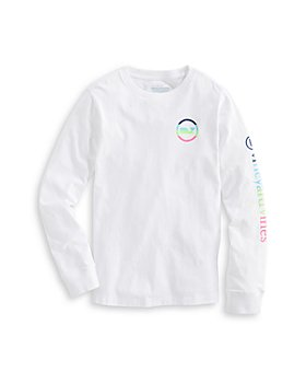 Vineyard Vines - Boys' Neon Whale Dot Long Sleeve Tee - Little Kid, Big Kid