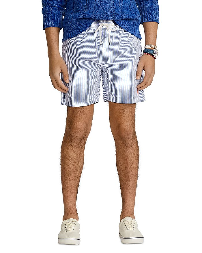 Polo Ralph Lauren - 5.5-Inch Traveler Seersucker Swim Trunks
