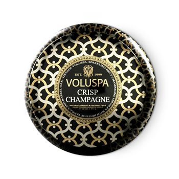 "Voluspa - Maison Noir ""Crisp Champagne"" 2 Wick Printed Tin Candle"