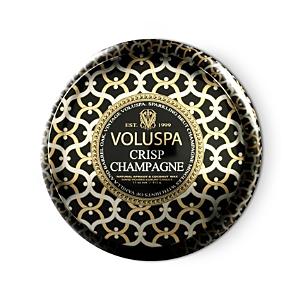 Voluspa Maison Noir Crisp Champagne 2 Wick Printed Tin Candle