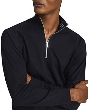 REISS - Matty Funnel Neck Half Zip Sweater