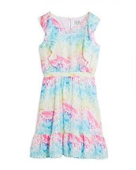 US Angels - Girls' Ruffled Tie Dye Dress - Big Kid