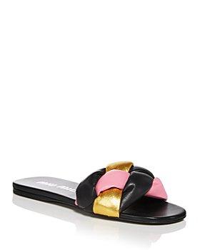 Miu Miu - Women's Calzature Donna Slip On Woven Slide Sandals