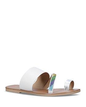 KURT GEIGER LONDON - Women's Dawn Rainbow Crystal Slide Sandals
