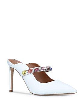 KURT GEIGER LONDON - Women's Duke Pointed Toe Rainbow Crystal High Heel Mules