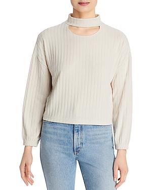 Cutout Mock Neck Sweater