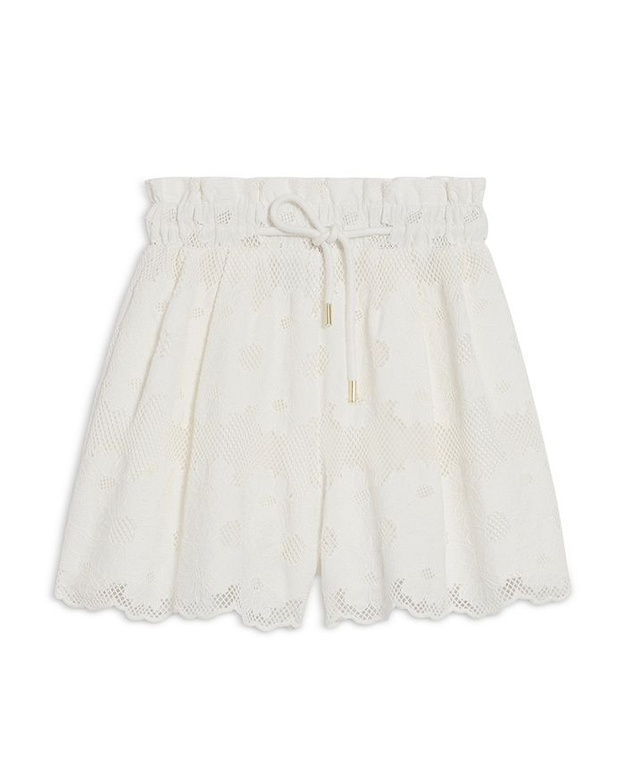 Sandro Shorts ADAM EMBROIDERED LACE SHORTS