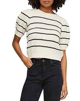 Vero Moda - Striped Puff Sleeve Sweater