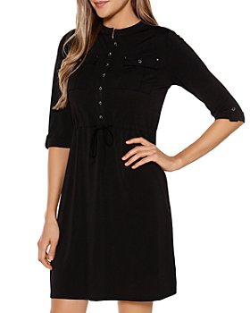 Belldini - Drawstring Shirt Dress