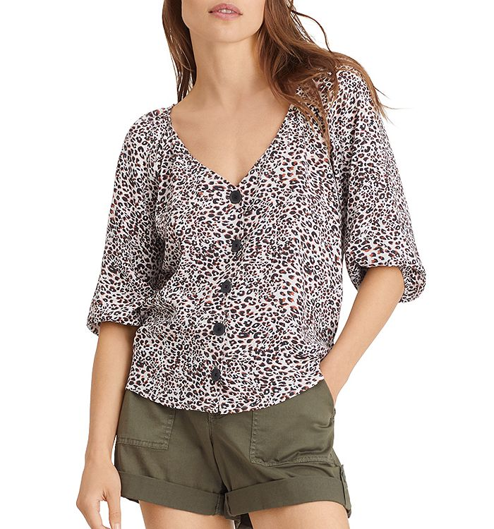 Sanctuary MODERN BUTTON FRONT PRINTED TOP