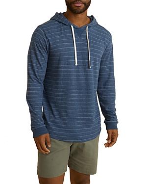 Cotton-Blend Stripe Double-Knit Hoodie