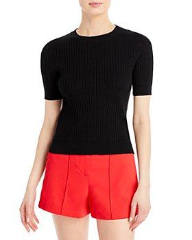 AQUA - Ribbed Short Sleeve Sweater - 100% Exclusive