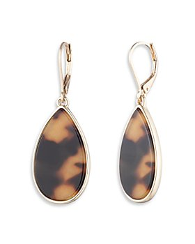 Ralph Lauren - Tortoise Inlay Teardrop Earrings