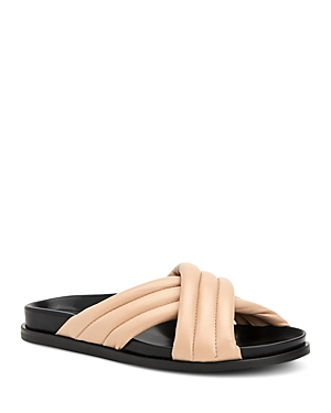 Aquatalia Women's Ivie Leather Sandals In Cappuccino