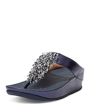 Women's Rumba Beaded Thong Wedge Sandals