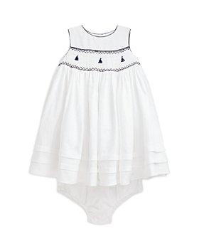 Ralph Lauren - Girls' Smocked Linen Anchor Dress - Baby