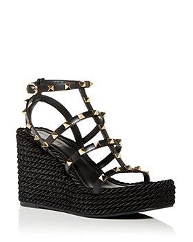 Valentino Garavani - Women's Rockstud Torchon Cage Espadrille Wedge Sandals