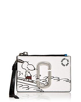 MARC JACOBS - x Peanuts Zip Leather Card Case