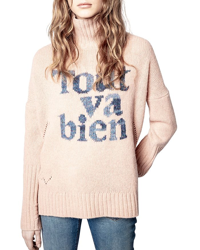 Zadig & Voltaire Knits ALMA GRAPHIC SWEATER