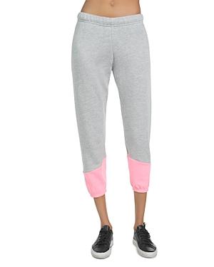 Melbourne Neon Trim Cropped Sweatpants