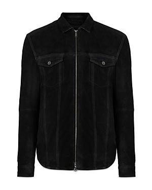 John Varvatos Star Usa Davis Suede Slim Fit Shirt Jacket