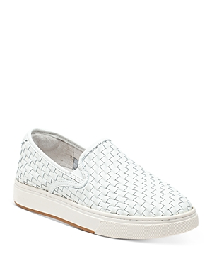 J/Slides Women's Justine Woven Leather Loafer Sneakers