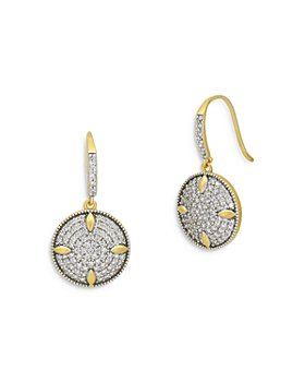 Freida Rothman - Petals and Pave Disc Earrings