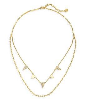 "Kendra Scott - Demi Cubic Zirconia Layered Necklace, 16-18"""