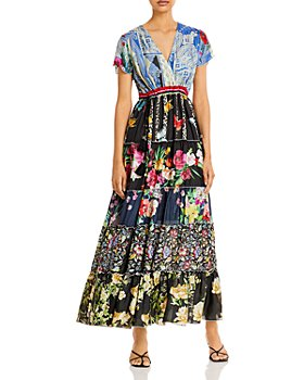 Johnny Was - Peteri Printed Silk Maxi Dress