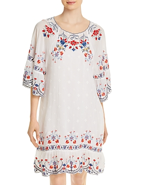 Johnny Was VICTORIA EMBROIDERED DRESS