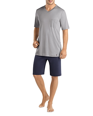 Hanro Night & Day Supima Cotton Pajama Tee & Shorts Set