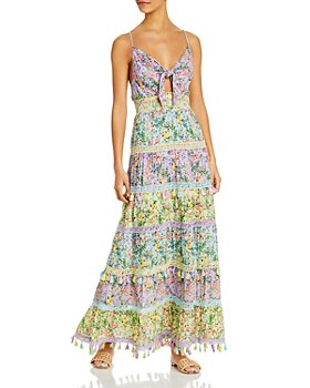 Alice and Olivia - Karolina Tie Front Maxi Dress