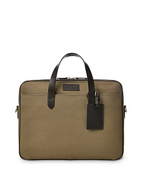 Polo Ralph Lauren - Leather Trim Canvas Briefcase