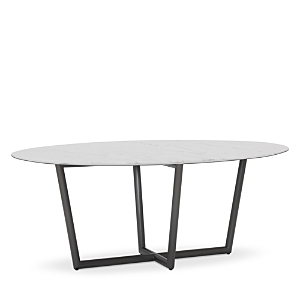 Mitchell Gold Bob Williams MODERN OVAL MARBLE DINING TABLE, 76 X 48