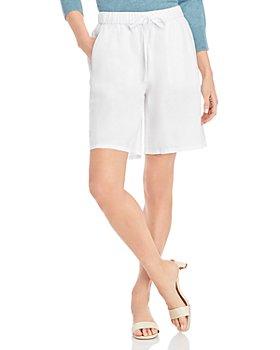 Eileen Fisher - Mid Thigh Linen Shorts
