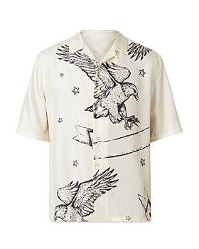 ALLSAINTS - Otis Eagle Print Camp Shirt