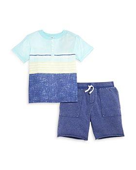 Splendid - Boys' Sunkissed Striped Henley & Shorts Set - Little Kid