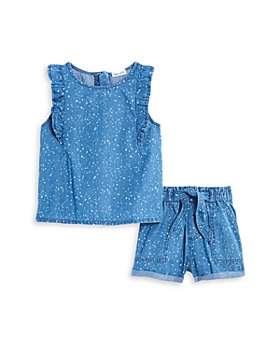 Splendid - Girls' Splatter Bleach Top & Shorts Set - Little Kid