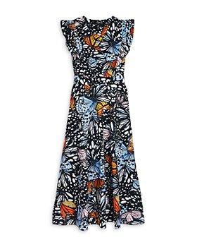 AQUA - Girls' Butterfly Print Dress, Big Kid - 100% Exclusive