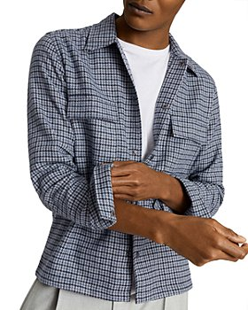 REISS - Astra Houndstooth Overshirt