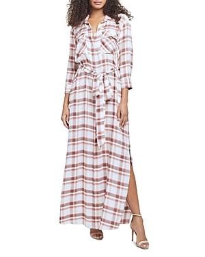 L Agence L'AGENCE CAMERON PLAID LONG SHIRT DRESS