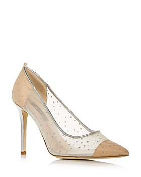 SJP by Sarah Jessica Parker - Women's Glass Glitter Embellished Pointed Toe Pumps