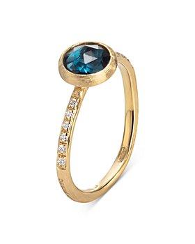 Marco Bicego - 18K Yellow Gold Jaipur Ring with London Blue Topaz & Diamonds