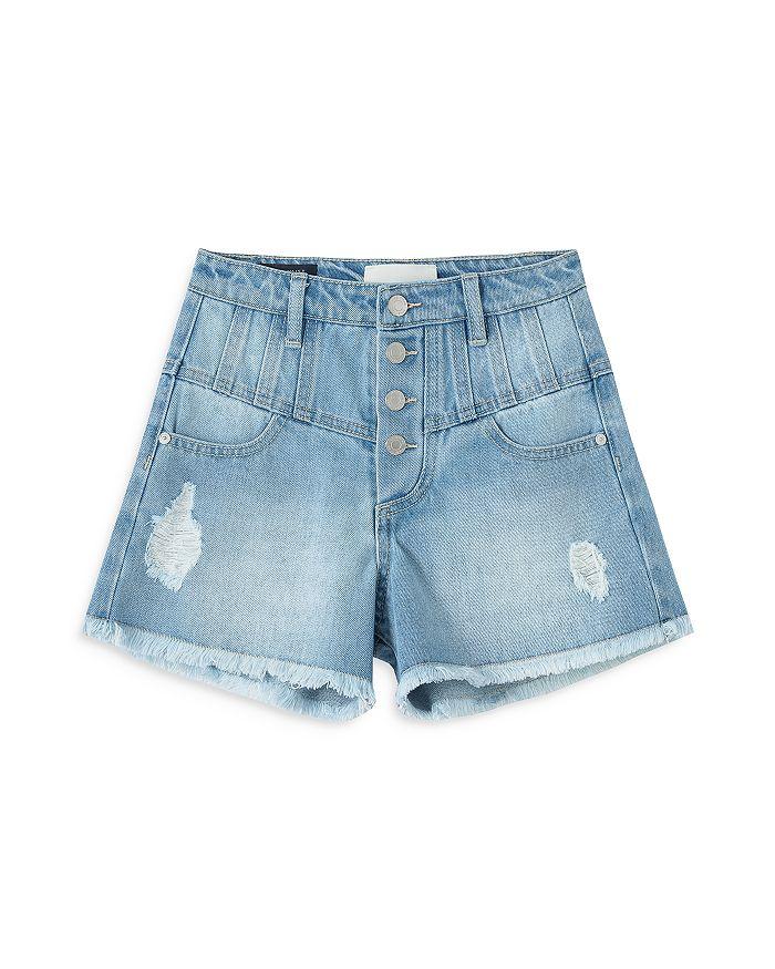 Habitual Kids - Girls' High Waist Button Fly Denim Shorts - Big Kid