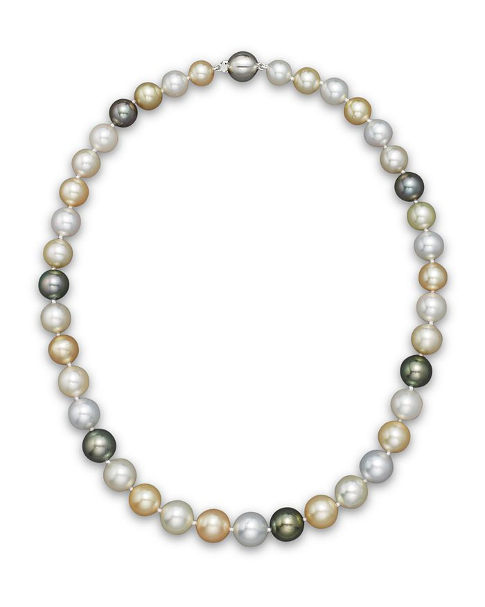 "Bloomingdale's - Cultured South Sea and Tahitian Pearl Necklace, 18"" - 100% Exclusive"