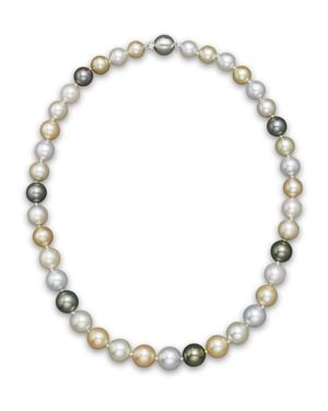 Cultured South Sea and Tahitian Pearl Necklace, 18