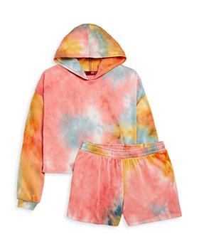 AQUA - Girls' Cropped Tie Dyed Hoodie & Shorts - Big Kid - 100% Exclusive