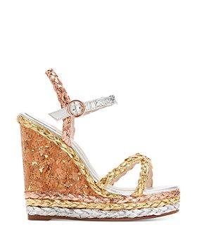 Sophia Webster - Women's Ines Metallic Espadrille Wedge Sandals